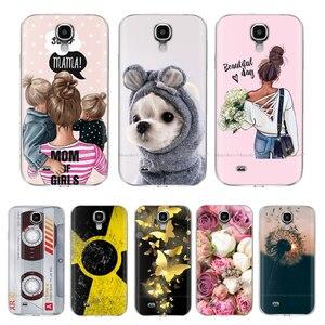 Cases For Samsung S4 Case coque Silicon phone Cover on For Samsung Galaxy S4 Mini bumper copas full 360 Protective fundas cute