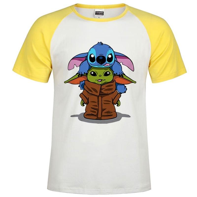 One Piece Baby Yoda T Shirt The Mandalorian Jedi Tshirt Digital Print EU Size Crew Neck Soft Funny Movies Star Wars Street Tops