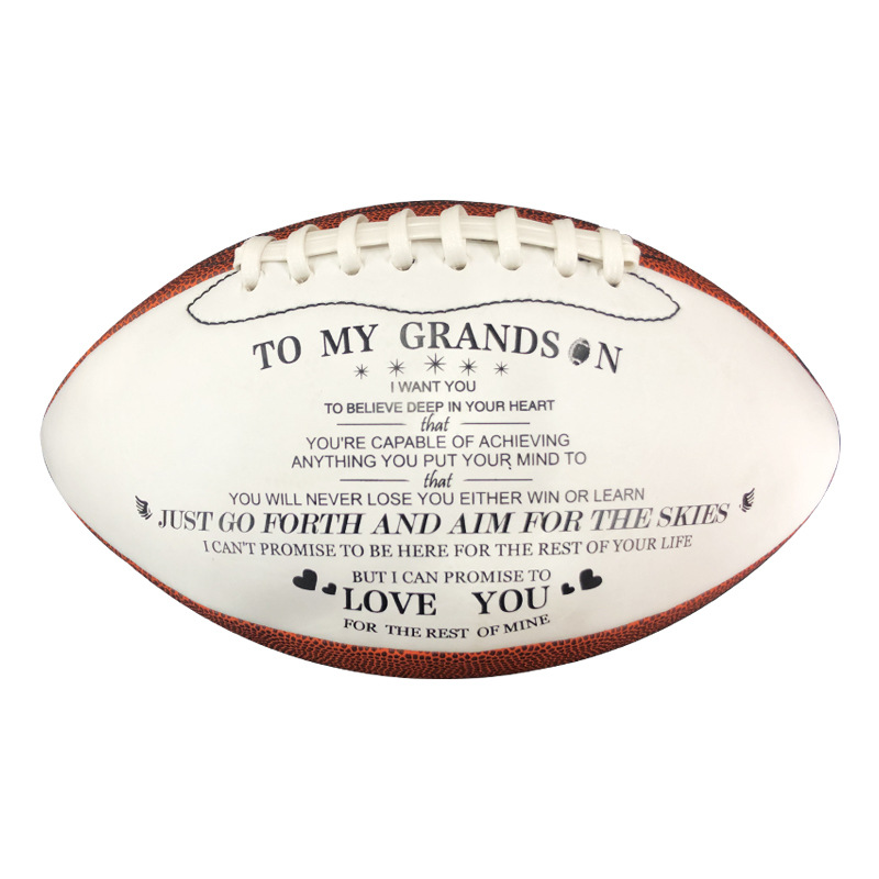 New High Quality American Football Size 9 Pu Leather Children Student Training Football Supplies Gifts