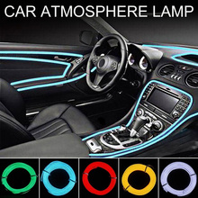 EL Wire Flash Rope Tube Cable LED Strip Flexible Neon Lamp Glow String Light For Car Decoration Sewing Edge Car Styling
