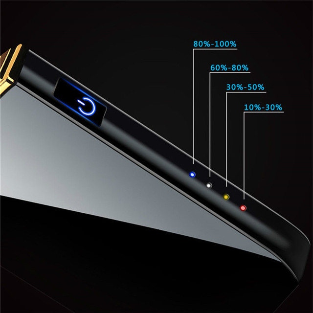 Smoking Accessories Double Lgnition Windproof Metal Lighters Charging USB Electric Lighter Touch Induction Rechargeable Lighter 4