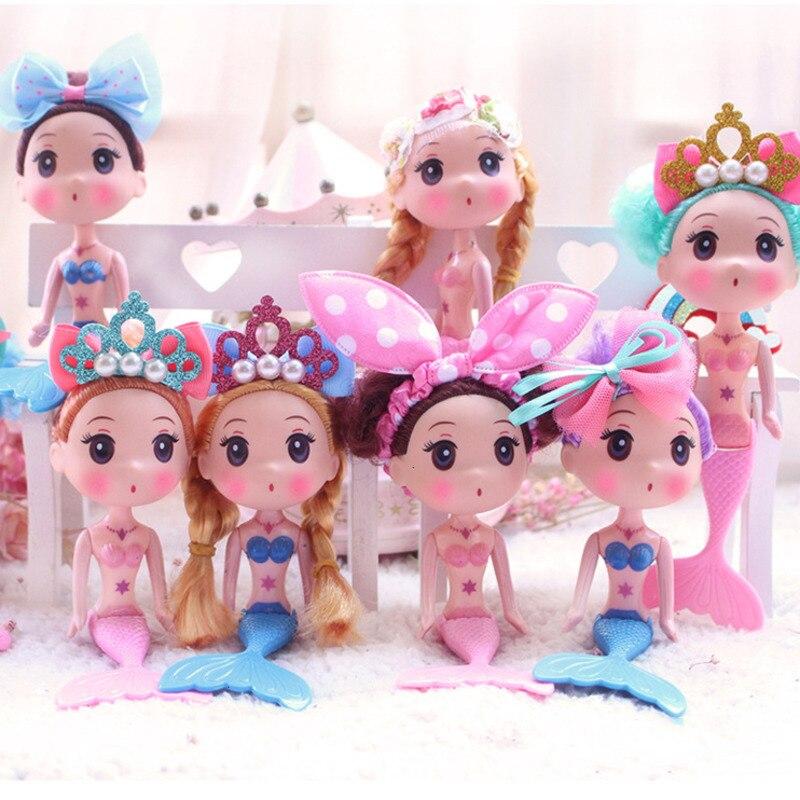 16CM Nette Schwimmen Meerjungfrau Puppe Spielzeug Für Kinder Mode Schöne Nackte Figur Körper Geburtstag Geschenk Für Mädchen 1PCS zufällige Farbe