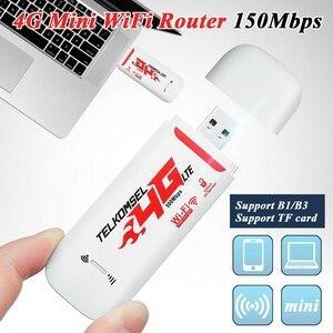 Портативный 4G/3G LTE автомобильный WIFI роутер Точка доступа 150 Мбит/с беспроводной USB ключ мобильный широкополосный модем sim-карта разблокирова...
