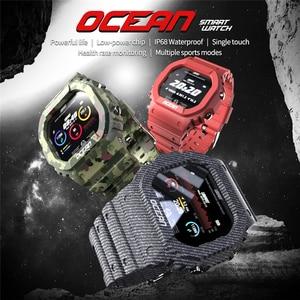 Image 5 - LOKMAT المحيط جهاز تعقب للياقة البدنية التحكم عن بعد الذكية معصمه الرجال IP68 مقاوم للماء ساعة ذكية لنظام أندرويد IOS reloj