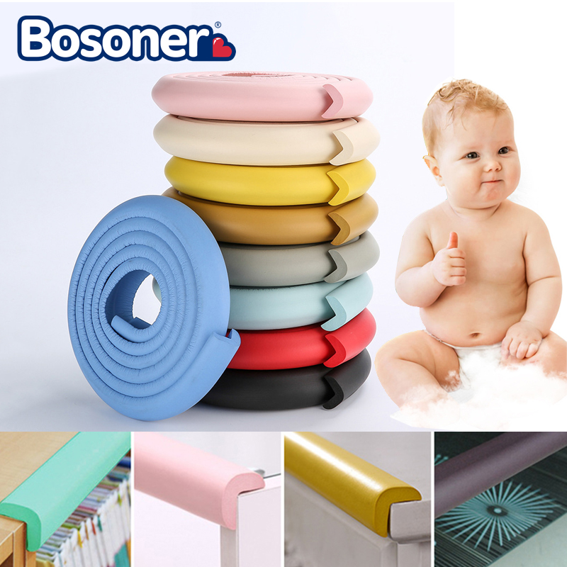 2M Baby Safety Table Desk Edge Guard Strip Home Cushion Guard Strip Safe Protection Children Bar Strip Soft Thicken