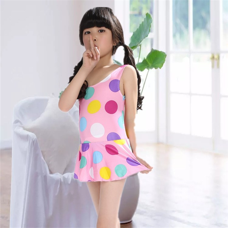 One-piece Swimsuit For Children GIRL'S Hipster Bubble Hot Spring Tour Bathing Suit Baby Girls Child One-piece Multi-color Bathin