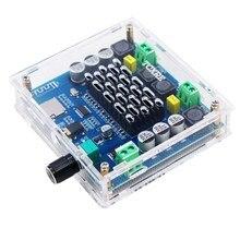 Amplificador de áudio tda7498 sem fio, placa de áudio estéreo digital 2x XH A105 w com bluetooth 5.0, suporte para cartão tf aux aux
