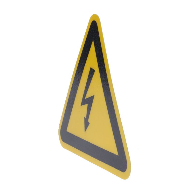 Warning Sticker Adhesive Labels Electrical Shock Hazard Danger Notice Safety 50mm  PVC Waterproof