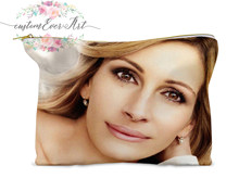 Julia Roberts cosmetic bag personalized small makeup bag funny makeup organizer toiletry bag zipper pouch(China)