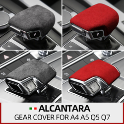 Alcantara Suede leather Interior Gear Shifter Cover Protector Trims Car Stickers For Audi a4l a5 a6 a7 q5l q7 2019~ accessories