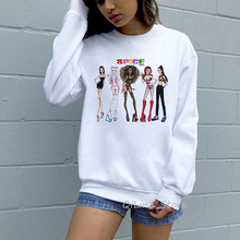 Sexy Spice Girls sweat Cool Vogue survêtement Vintage streetwear 90s tumblr sweaters à capuche graphique femmes sweat femme sudaderas(China)
