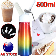 500ml Aluminium Whipped Cream Dispenser Kitchen Professional Cream Whipper Dessert Tools With 3 Nozzles and Cleaning Brush