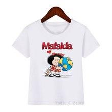 Забавные футболки для девочек mafalda love dog футболка с графическим