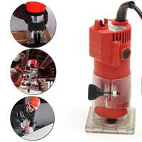 800W 30000rpm Woodworking Electric Trimmer Wood Milling Engraving Slotting Trimming Hand Carving Machine Wood Router Tools