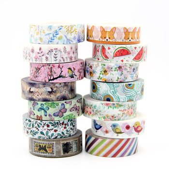 1 roll Cute Lotkawaii Flower food animals Decorative Washi Tape DIY Scrapbooking Masking School Office Supply