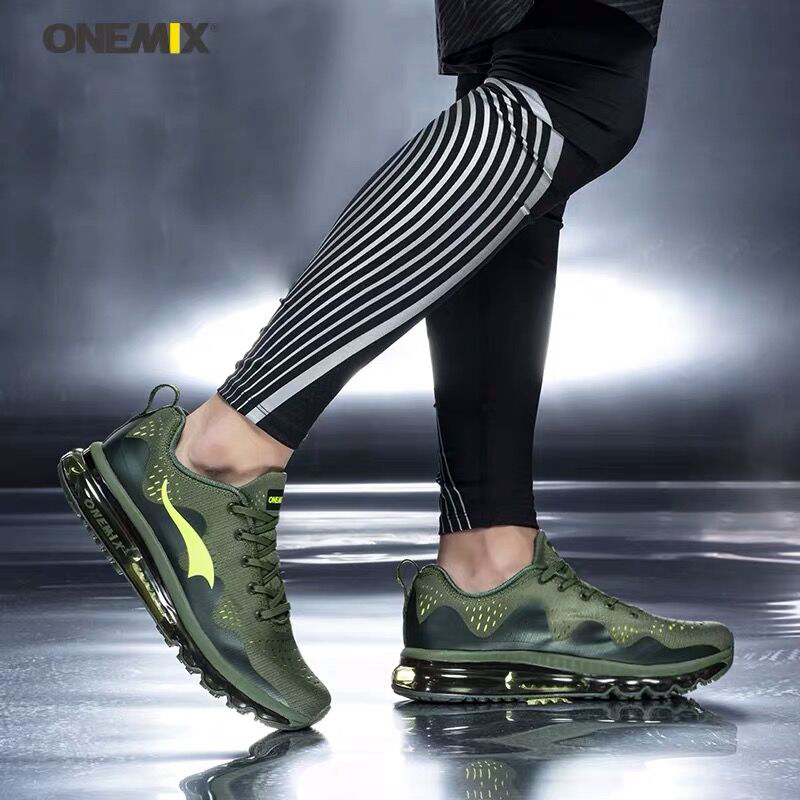 New onemix Air Men's Sports Running Shoes Cushioning Breathable Massage Sneakers for Men Sport Shoes 2020 male athletic outdoor