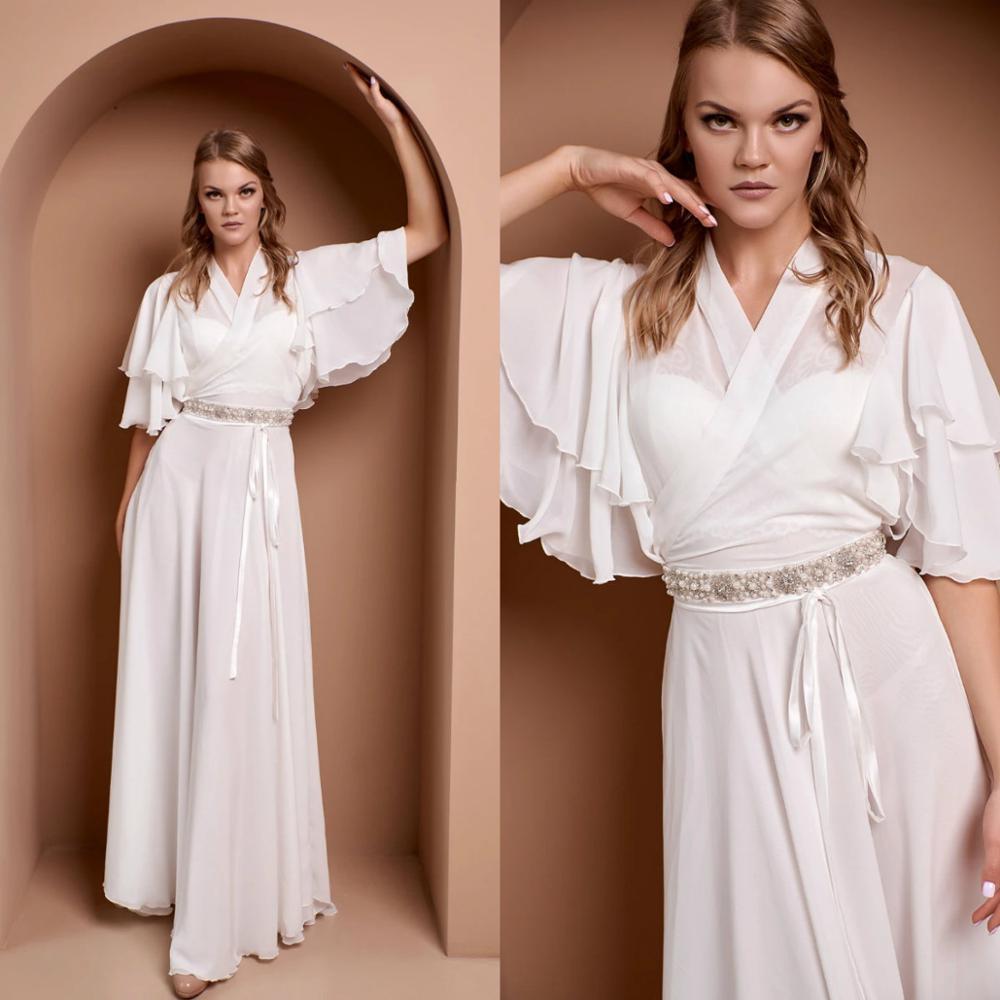 White Bridal Gowns Beaded Long Bathrobe Women Lingerie Nightgown Pajamas Sleepwear Women's Luxury Gowns Housecoat Nightwear