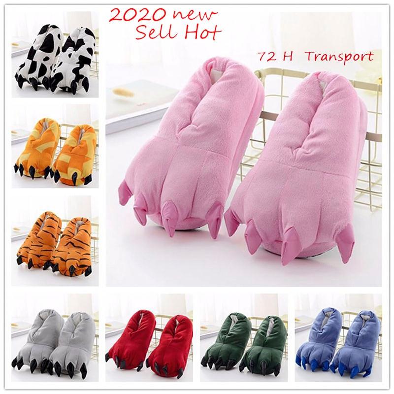 Kigurumi Slippers Shoes Onesie Pikachu Tiger Animal Paw Girl Children Winter Adult Unicorn