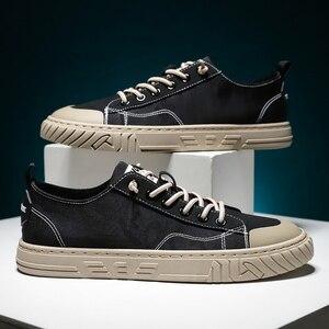 Image 5 - Vastwave tecido de lona homem tênis sapatos deslizamento resistência outono sapatos casuais masculinos de luxo apartamentos sapatos masculinos vulcanize