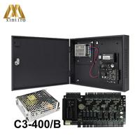 ZK C3 400 Door Access Control System 4 Doors Access Control Panel Access Control Board+Power Supply Box And Battery Function
