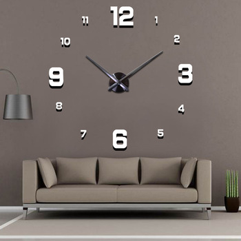 2020 Modern Design Large Wall Clock 3D DIY Quartz Clocks Fashion Watches Acrylic Mirror Stickers Living Room Home Decor Horloge