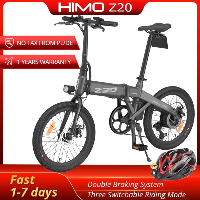 Himo z20 bicicleta elétrica dobrável 20-Polegada pneu 250w dc motor, 80km, 10ah bicicleta dattery escondido bomba de ar