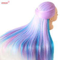 """28"""" 100% High Temperature Firber Colorful Hair Doll Heads Nice Hairdressing Training Head Nice Dummy Hairdresser Mannequin Head"""