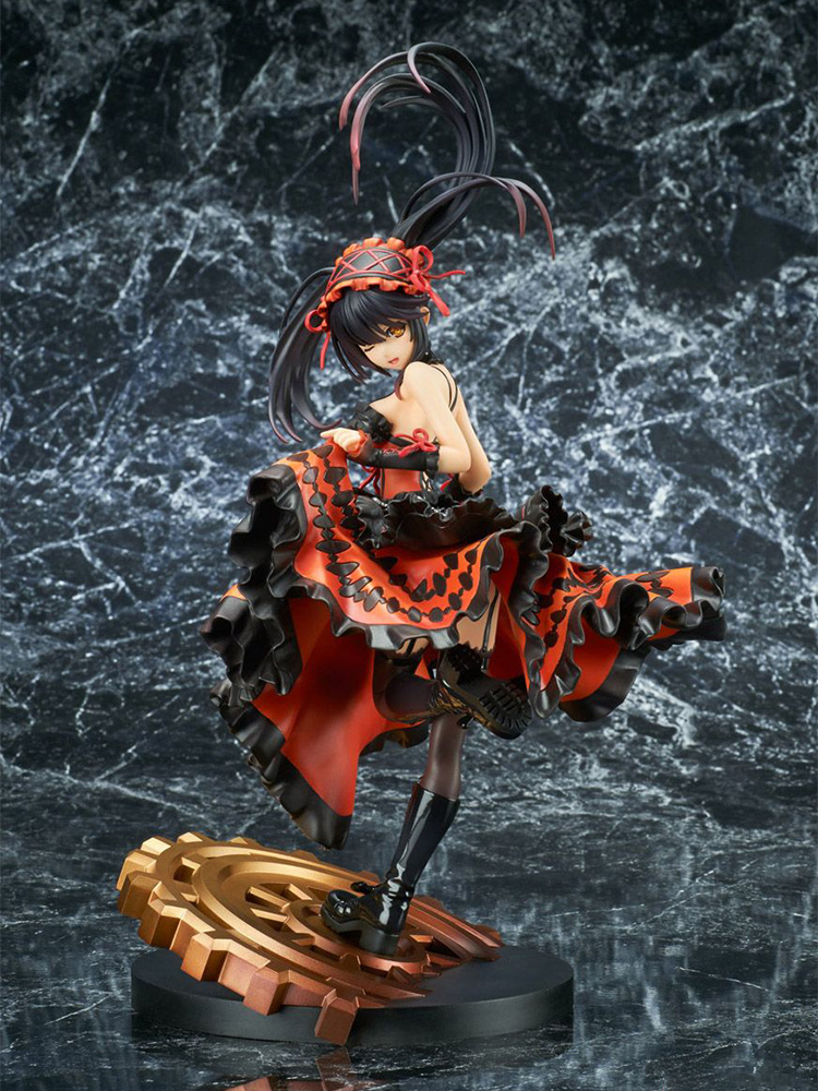 Date A Live II Kurumi Tokisaki PVC Action Figure Anime Figure Model Toys Sexy Girl Figure Collectible Doll Gift