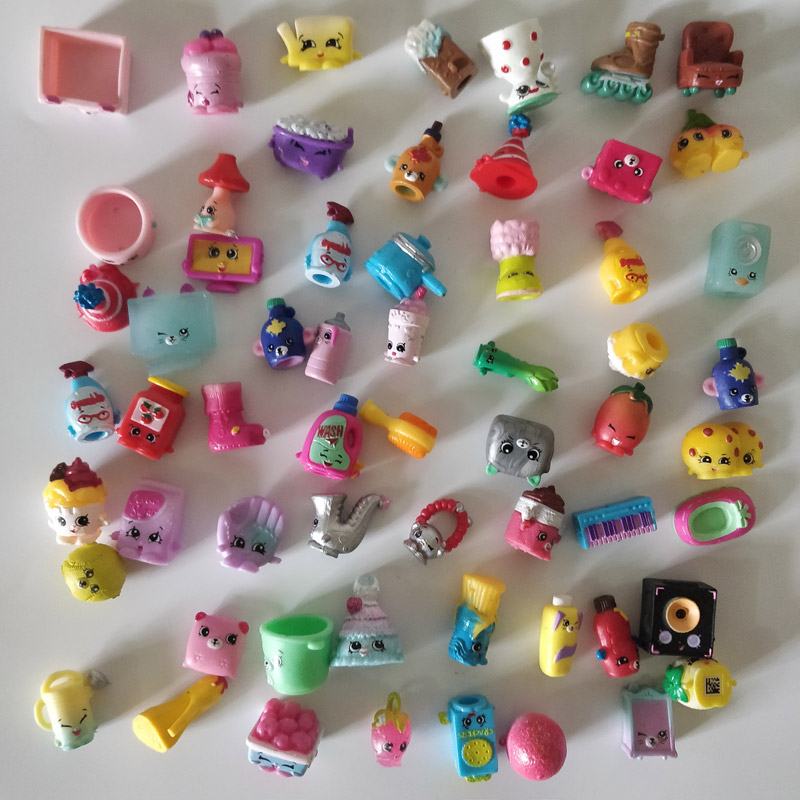 100pcs/lot Anime 3D Rare Game Figures Shopkines Kawaii Cute Fruit Food Furniture Vegetable Model Toy Collectible Gift For Girl