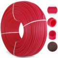 "EVOH pex b rouge rayonnant plancher chaleur 1/2 ""x1000ft Pex tuyau tuyau barrière d'oxygène   -"
