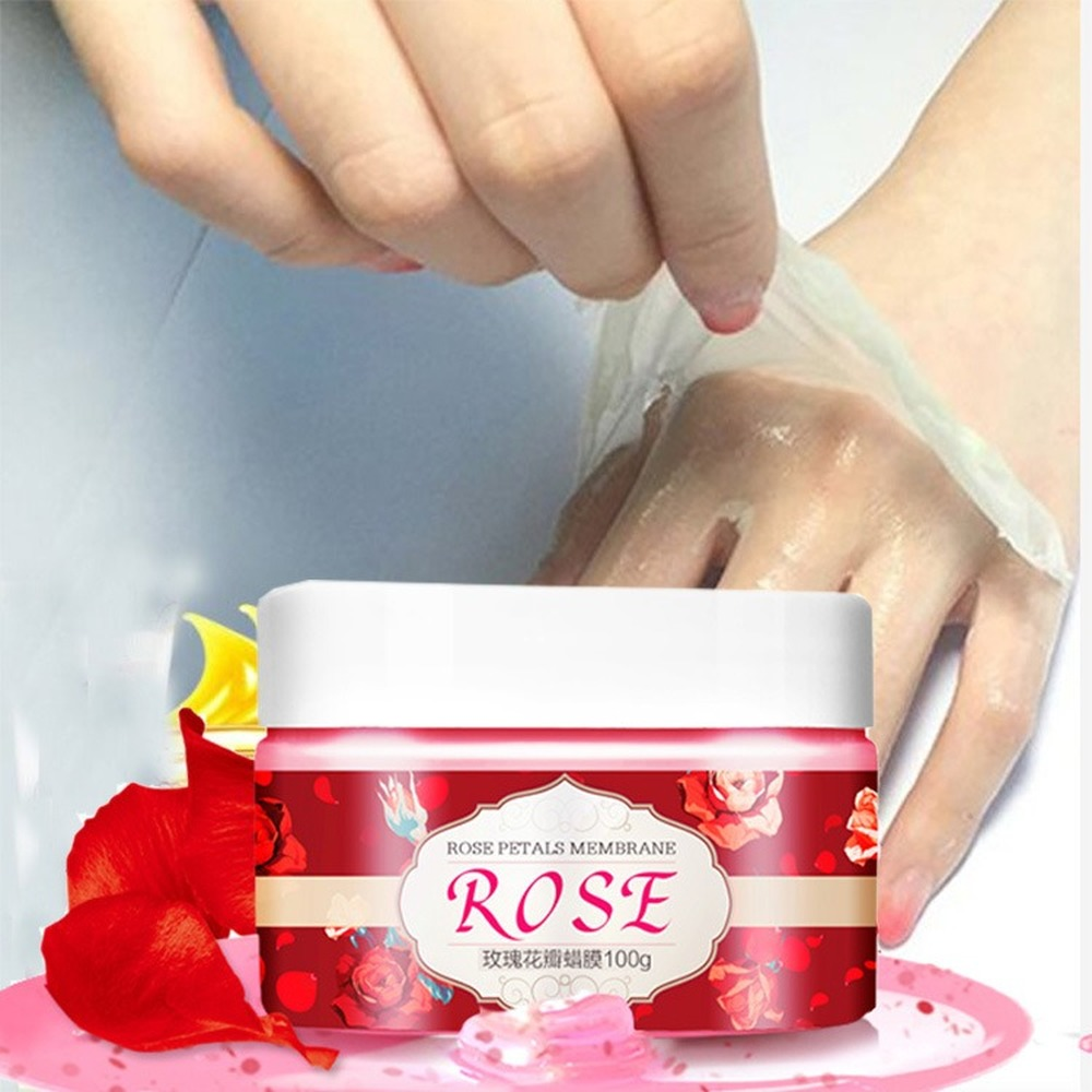 Rose Hand Mask Peeling Wax Whitening Moisturizing Collagen Gel Spa Exfoliating Hand Care Foot Mask Paraffin Bath Film Cream