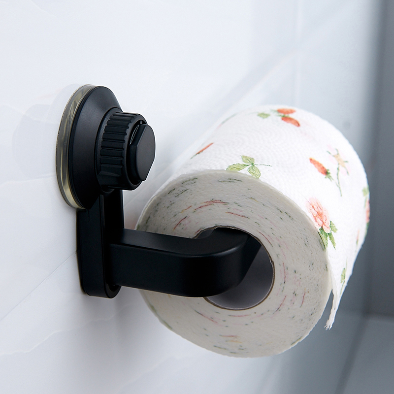 Wall-Mounted Toilet Paper Holders Self-Adhesive Toilet Tissue Hanging Racks Easy-Install Convenient Bathroom Fixture Supplies