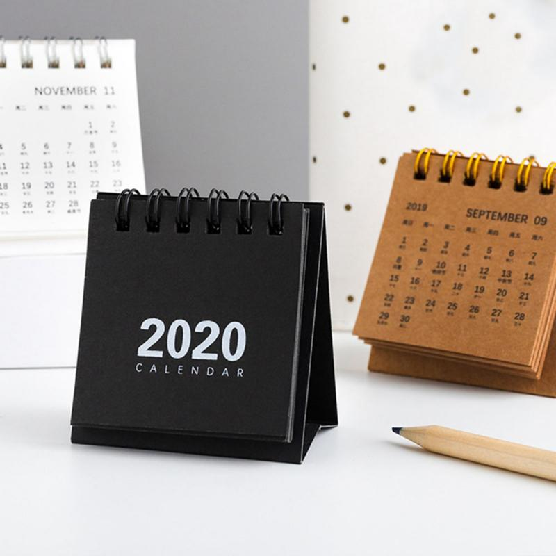 Hand Drawing Desk Calendar Creative Yearly Time Reminder Timetable Vertical Simple Paper Planner Coil Notebook Home Decor 2020