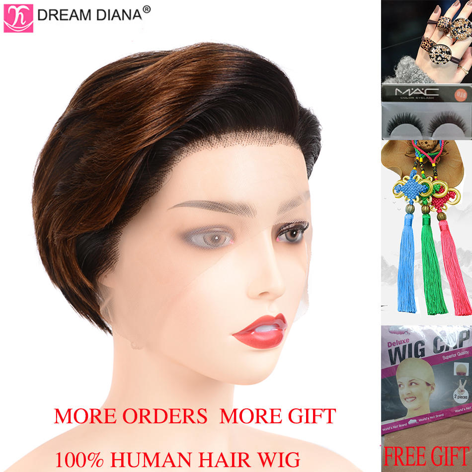 DreamDiana Ombre Brazilian Wigs Remy 13x4 Lace Front Wig Ombre Lace Wig 8