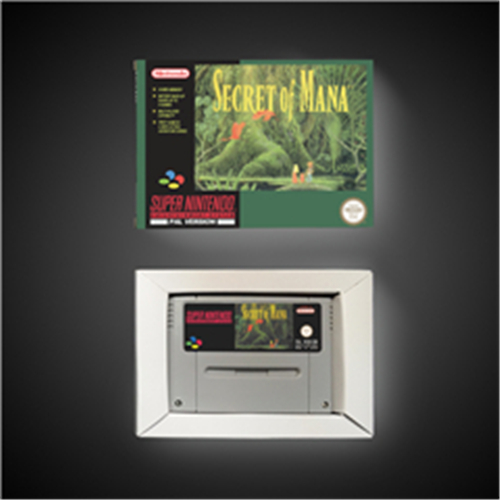 Secret Of Mana - EUR Version RPG Game Card Battery Save With Retail Box