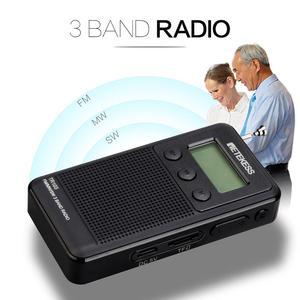 Image 3 - Retekess tr103 bolso portátil mini rádio fm/mw/rádio de ondas curtas sintonização digital 9/10khz mp3 leitor de música bateria recarregável