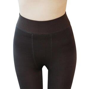 Image 5 - 2020 delle Donne di modo di Inverno Pantaloni Leggings Plus. Cashmere Pantaloni Sexy Caldo Super Elastico Del Faux Velluto Invernali di Spessore Pantaloni Sottili