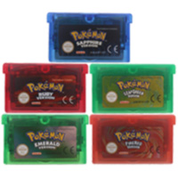 32 Bit Video Game Cartridge Console Card Poke Series Multi-Language EU US Version For Nintendo GBA