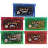 Cartucho de 32 bits para consola Nintendo GBA, Cartucho multilingüe para consola de videojuegos, serie Poke, versión EU/US