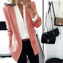 Taniafa 2019 New Arrival Slim Suit Jacket Female Autumn Casual Work Office with Pocket Business