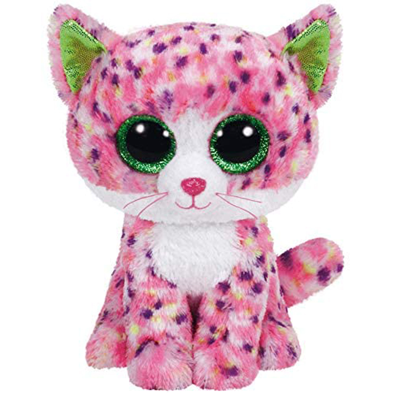 Ty Sophie Pink Polka Dot Cat Plush Animal Toys Stuffed Doll Gift 15cm
