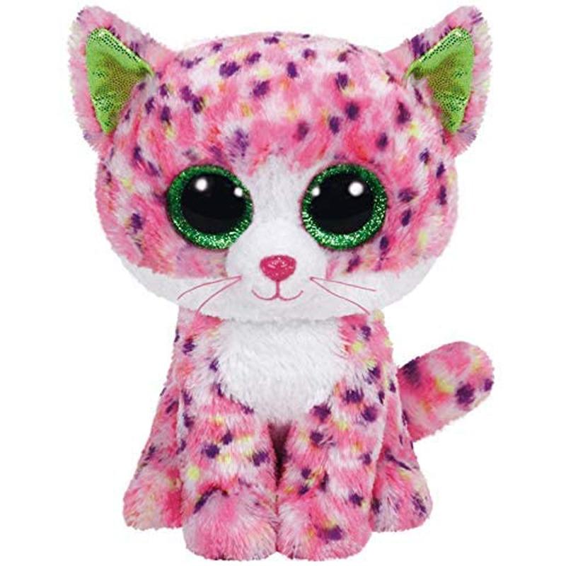 Ty Sophie Pink Polka Dot Cat Plush Animal Toys Stuffed Doll Gift 15cm
