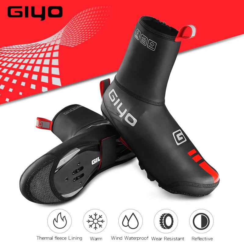 GIYO kolarstwo kalosze wodoodporne wiatroszczelne przeciwdeszczowe polary MTB Road ciepłe buty rowerowe obejmuje rowerowe zimowe zabezpieczenie termiczne