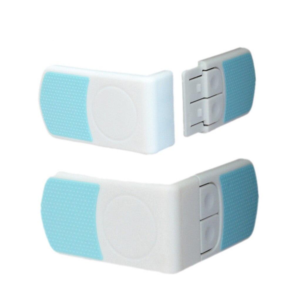 Hot Baby Safety Lock Door Fridge Drawer Wardrobe Angle Safety Lock For Children Kid Toddler Double Snap Lock 1