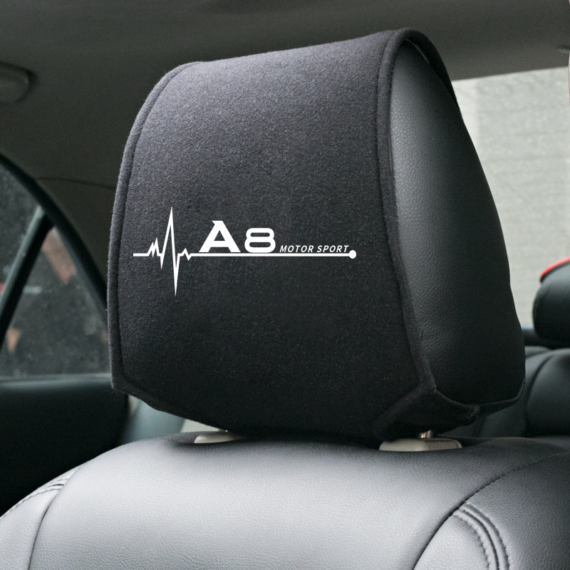 1PCS Hot car headrest cover fit for <font><b>Audi</b></font> <font><b>A8</b></font> <font><b>d2</b></font> d3 d4 4e Accessories Car Styling image