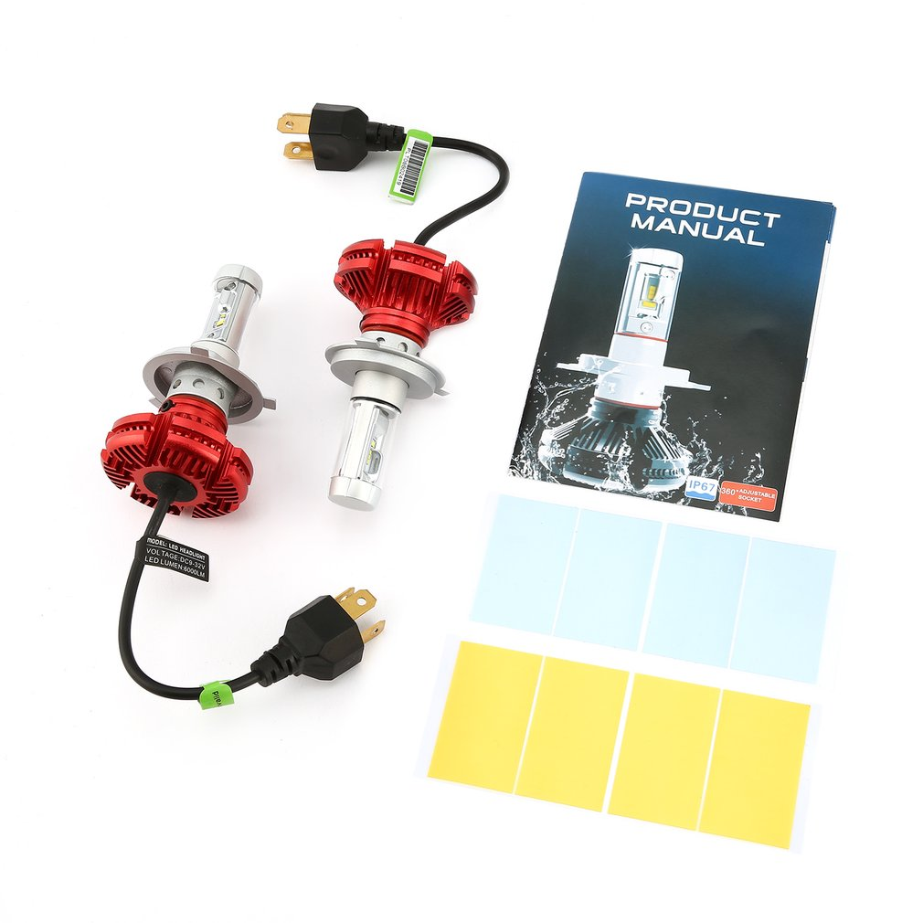 2pcs X3 <font><b>LED</b></font> <font><b>Headlights</b></font> Conversion Kit IP67 Waterproof 50W 6000LM ZES <font><b>LED</b></font> <font><b>Headlights</b></font> Light Source <font><b>360</b></font> Degrees Adjustable Socket image