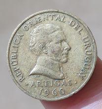 19.5mm Uruguay, 100% Gerçek Hakiki Comemorative Sikke, Orijinal Koleksiyonu
