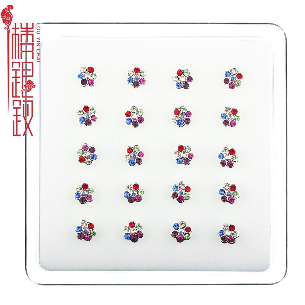Nieuwe Collectie Sterling Zilveren Neus Studs Bloem Vrouwen Modus Neus Ring Body Piercing Sieraden Neus Ring Modus Siera Haar sieraden, Broches & Sieraden    -