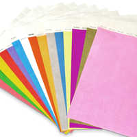 16 Mix Colors Solid NEW Color 3/4 inch Tyvek Wristbands with Series Numbers, ID Wristbands for Party Events, 160 Pieces