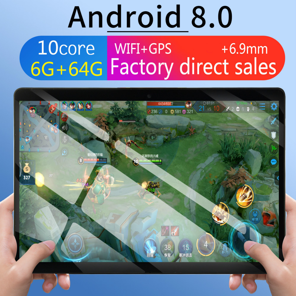 2020 6G+64G   WiFi Tablet PC Dual SIM Dual Camera Rear Bluetooth WiFi Call Phone Tablet Android 8.0